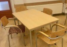 nieuwe tafelbladen voor wijkgebouw de slinger